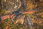 Remington shotgun and ruffed grouse