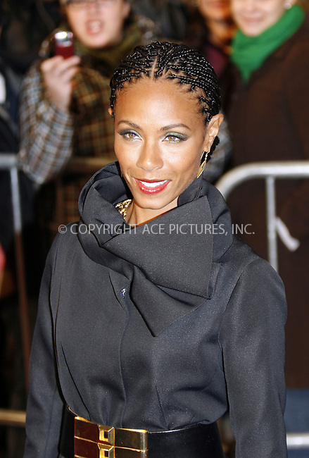 WWW.ACEPIXS.COM . . . . .  ....December 9 2008, New York City....Actress Jada Pinkett Smith at the premiere of 'The day the world stood still' at AMC Lowes Lincoln Square on December 9 2008 in New York City....Please byline: NANCY RIVERA- ACE PICTURES.... *** ***..Ace Pictures, Inc:  ..tel: (646) 769 0430..e-mail: info@acepixs.com..web: http://www.acepixs.com