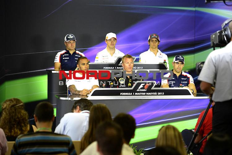 Valtteri Bottas (FIN), Williams F1 Team - Lewis Hamilton (GBR), Mercedes GP - Paul di Resta (GBR), Force India - Kimi Raikkonen (FIN), Lotus Renault F1 Team - Esteban Gutierrez (MEX) Sauber F1 Team - Pastor Maldonado (VEN) Williams GP <br />  Foto &copy; nph / Mathis