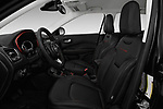 Front seat view of a 2017 Jeep New Compass Trailhawk 5 Door SUV front seat car photos