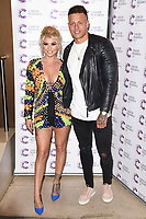 Olivia Buckland and Alex Bowen<br /> arriving at James Ingham's Jog On To Cancer, in aid of Cancer Research UK at The Roof Gardens in Kensington, London. <br /> <br /> <br /> ©Ash Knotek  D3248  12/04/2017