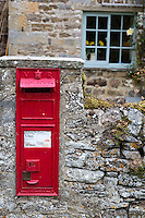 UK, England, Yorkshire.  Mail Box, Bolton castle.