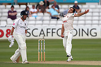 Ryan ten Doeschate in bowling action for Essex during Essex CCC vs Warwickshire CCC, Specsavers County Championship Division 1 Cricket at The Cloudfm County Ground on 14th July 2019
