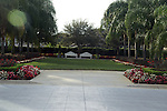 Benches on the grounds at the Orlando LDS Temple.