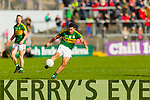 Michael Geaney Kerry in action against  Cork in the National Football League at Pairc Ui Rinn, Cork on Sunday.