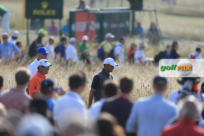 Tiger WOODS (USA) watches on during round 3 of  The 142th Open Championship Muirfield, Gullane, East Lothian, Scotland 20/7/2013<br /> Picture Fran Caffrey www.golffile.ie: