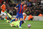 26.04.2017 Barcelona. La Liga , game 34. Picture show Paco Alcacer in action during game between FC Barcelona against Osasuna at Camp Nou01.12.2016 Barcelona.