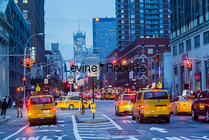 Traffic on Eighth Avenue in the Chelsea neighborhood of New York on Tuesday, May 23, 2017. (© Richard B. Levine)