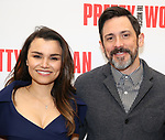 Samantha Barks and Steve Kazee attends the photo call for the New Broadway Bound Musical 'Pretty Woman' on January 22, 2018 at the New 42nd Street Studios in New York City.