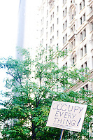 "The protest ""Occupy Wall Street"" continues into its third week in Zuccotti Park in New York City on October 8, 2011."