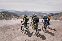 a surprise gravel section along the way<br /> <br /> Michelton-Scott training camp in Almeria, Spain<br /> february 2018