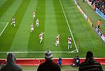 Stoke City 2 Bristol City 1, 19th April 2008. Bristol City fans watch as Stoke players celebrate their second goal.Photo by Paul ThompsonStoke City 2 Bristol City 1, 19/04/2008. Britannia Stadium, Championship. Photo by Paul Thompson.