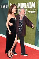 "Olga Kurylenko and Terry Gilliam<br /> arriving for the London Film Festival screening of ""The Man Who Killed Don Quixote"" at the Embankment Gardens<br /> <br /> ©Ash Knotek  D3445  16/10/2018"