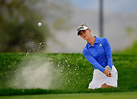 Jessica Korda of the United States, plays a shot from a bunker on the seventh hole during the third round of the ANA Inspiration at the Mission Hills Country Club in Palm Desert, California, USA. 3/31/18.<br /> <br /> Picture: Golffile | Bruce Sherwood<br /> <br /> <br /> All photo usage must carry mandatory copyright credit (&copy; Golffile | Bruce Sherwood)during the second round of the ANA Inspiration at the Mission Hills Country Club in Palm Desert, California, USA. 3/31/18.<br /> <br /> Picture: Golffile | Bruce Sherwood<br /> <br /> <br /> All photo usage must carry mandatory copyright credit (&copy; Golffile | Bruce Sherwood)