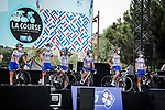 FDJ Nouvelle Aquitaine Futuroscope at the presentation before the start of La Course By Le Tour de France 2020, running 96km from Nice to Nice, France. 29th August 2020.<br /> Picture: ASO/Thomas Maheux | Cyclefile<br /> All photos usage must carry mandatory copyright credit (© Cyclefile | ASO/Thomas Maheux)