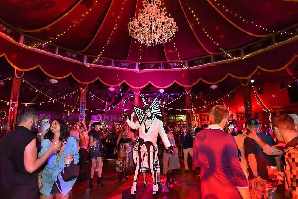 Bard College Summerscape party at Spiegeltent hosted by nightclub impresario Susanne Bartsch.