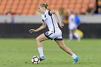 Houston, TX - Saturday July 08, 2017: Allie Long brings the ball up the field during a regular season National Women's Soccer League (NWSL) match between the Houston Dash and the Portland Thorns FC at BBVA Compass Stadium.