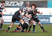 11 March 2013; Jack Barry-Glendinning in action during the Medallion Shield Final between Wallace High School and Campbell College at Ravenhill, Belfast, DICKSONDIGITAL