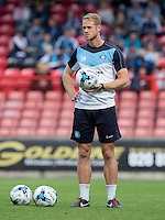 David Wates of Wycombe Wanderers during the Sky Bet League 2 match between Leyton Orient and Wycombe Wanderers at the Matchroom Stadium, London, England on 19 September 2015. Photo by Andy Rowland.