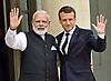 President Emannuel Macron Meets Indian PM  Modi
