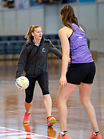 10.10.2017 Silver Ferns Katrina Grant in action during the  Silver Ferns training in Adelaide. Mandatory Photo Credit ©Michael Bradley.