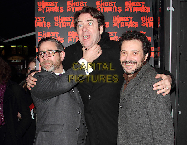LONDON, ENGLAND - FEBRUARY 27:  Andy Nyman, Jonathan Ross and Jeremy Dyson attends the 'Ghost Stories' Press Night at the Arts Theatre on February 27, 2014 in London, England.<br /> CAP/ROS<br /> &copy;Steve Ross/Capital Pictures