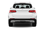 Straight rear view of 2016 Mercedes Benz GLC-Class GLC300 5 Door SUV Rear View  stock images
