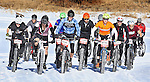 DEADWOOD, SD - JANUARY 23, 2016 -- Participants in the fat-tire bike event roll away from the starting line during the 2016 Snow Jam Points Series at Tomahawk Country Club south of Deadwood, S.D. Saturday. (Photo by Richard Carlson/dakotapress.org)