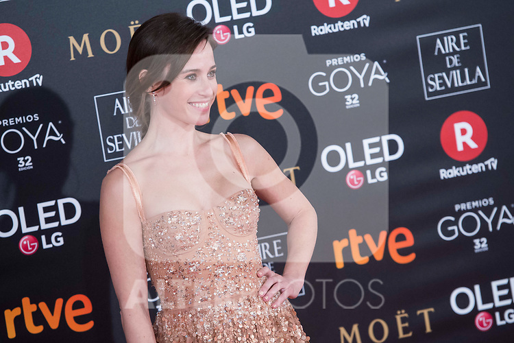 Marta Etura attends red carpet of Goya Cinema Awards 2018 at Madrid Marriott Auditorium in Madrid , Spain. February 03, 2018. (ALTERPHOTOS/Borja B.Hojas)