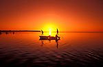 Florida: Florida Keys, bonefishing, sunset.  Photo: flkeys101.Photo copyright Lee Foster, 510/549-2202, lee@fostertravel.com, www.fostertravel.com