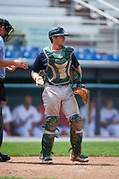 Vermont Lake Monsters catcher Brett Sunde (24) during a game against the Auburn Doubledays on July 13, 2016 at Falcon Park in Auburn, New York.  Auburn defeated Vermont 8-4.  (Mike Janes/Four Seam Images)