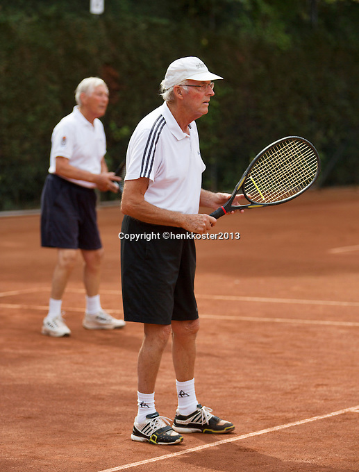 2013,August 21,Netherlands, Amstelveen,  TV de Kegel, Tennis, NVK 2013, National Veterans Tennis Championships,   mens doubles 65+<br /> Photo: Henk Koster