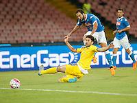 secondo gol  Gonzalo Higuain  durante l'incontro di calcio di Serie A   Napoli -Sampdoria allo  Stadio San Paolo  di Napoli , 30 Agosto 2015