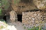 Medieval cave dwellings homes Ghar il-Kbir, Dingli,  Malta