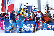 8th December 2017, Biathlon Centre, Hochfilzen, Austria; IBU Biathlon World Cup; Martin Fourcade, Anton Shipulin