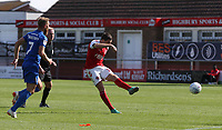 Fleetwood Town's Bobby Grant see his shot hit the post late in the second half<br /> <br /> Photographer Stephen White/CameraSport<br /> <br /> The EFL Sky Bet League One - Fleetwood Town v AFC Wimbledon - Saturday 4th August 2018 - Highbury Stadium - Fleetwood<br /> <br /> World Copyright &copy; 2018 CameraSport. All rights reserved. 43 Linden Ave. Countesthorpe. Leicester. England. LE8 5PG - Tel: +44 (0) 116 277 4147 - admin@camerasport.com - www.camerasport.com