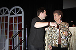 The Young & The Restless star Michael Muhney greets Marian who came for her 75th birthday to the Soap Opera Festivals - Meet & Greet wine tasting event on March 24, 2012 at Bally's Atlantic City, Atlantic City, New Jersey.  (Photo by Sue Coflin/Max Photos)
