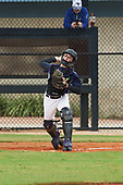 Blake Dincman (7) of Tallahassee, Florida during the Baseball Factory All-America Pre-Season Rookie Tournament, powered by Under Armour, on January 13, 2018 at Lake Myrtle Sports Complex in Auburndale, Florida.  (Michael Johnson/Four Seam Images)