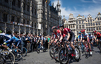 defending champion Geraint Thomas (GBR/Ineos) at the 2019 TdF departure in Brussels<br /> <br /> Stage 1: Brussels to Brussels (BEL/192km) 106th Tour de France 2019 (2.UWT)<br /> <br /> ©kramon