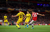 Gabriel Martinelli of Arsenal scores a goal during the UEFA Europa League match between Arsenal and Standard Liege at the Emirates Stadium, London, England on 3 October 2019. Photo by Andrew Aleks.