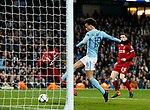 Manchester City's Leory Sane sees his goal disallowed during the Champions League Quarter Final 2nd Leg match at the Etihad Stadium, Manchester. Picture date: 10th April 2018. Picture credit should read: David Klein/Sportimage