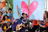 NEW YORK, NY August 10: Jason Mraz performs on the Today Citi Concert Series at Rockefeller Plaza in New York City on August 10, 2018 Credit: RW/MediaPunch