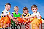 Luka Collins, Lauren Cotter, Lelia Halloran, Oscar Collins enjoying the St.Brendans Basketball Easter camp at Moyderwell sports hall on Tuesday
