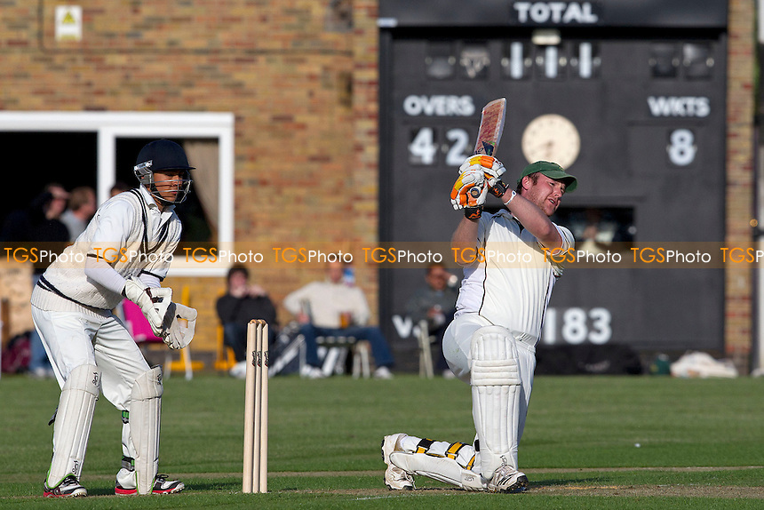Dan Hagan, Chelmsford CC, collects another boundary via the mid wicket area - Chelmsford CC vs Wanstead CC - Essex Cricket League at Chelmer Park - 09/06/12 - MANDATORY CREDIT: Ray Lawrence/TGSPHOTO - Self billing applies where appropriate - 0845 094 6026 - contact@tgsphoto.co.uk - NO UNPAID USE.