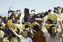 Irak 1991.Le 45 ème anniversaire du PDK:la foule en liesse.Iraq 1991.Celebration of the 45th anniversary of KDP