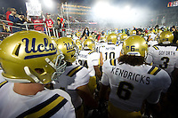 STANFORD, CA-NOVEMBER 30, 2012 - The UCLA Bruins take to the field before the PAC-12 Championship at Stanford Stadium.