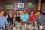BIRTHDAY GREETINGS: Angela Fitzmaurice who celebrated her 50th birthday at McMuns, Ballybunion on Saturday night with her family. Pictured l-r: Denis and Niamh Kennelly, Orla, Jodie, Angela and Glen Fitzmaurice.