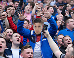 "13.05.2018 Hibs v Rangers: ""Steven Gerrard"" in the Rangers end"