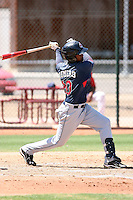 Juan Romero #20 of the Cleveland Indians plays in an extended spring training game against the Seattle Mariners at the Indians minor league complex on May 14, 2011  in Goodyear, Arizona. .Photo by:  Bill Mitchell/Four Seam Images.