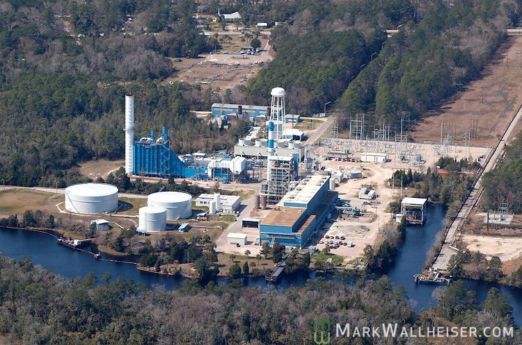 The City of Tallahassee electric plant,  Sam O Purdom Generating Station built in 1952 on the St Marks River in St. Marks, Florida south of Tallahassee.    (Mark Wallheiser/TallahasseeStock.com)
